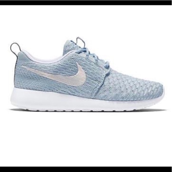 4209a44063 Nike Shoes | Womens Flyknit Roshes Sky Blue | Poshmark
